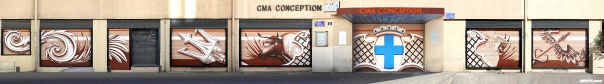 Cma conception noyps graffiti street art marseille