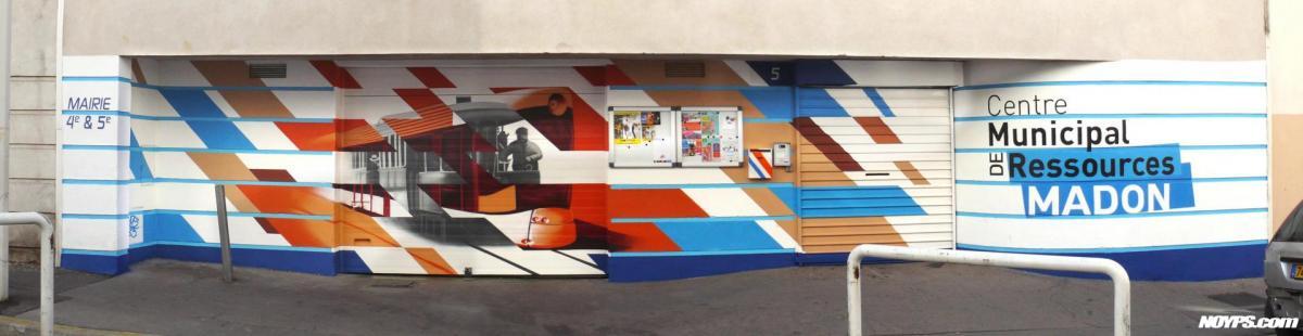 Cma madon noyps graffiti street art marseille 1
