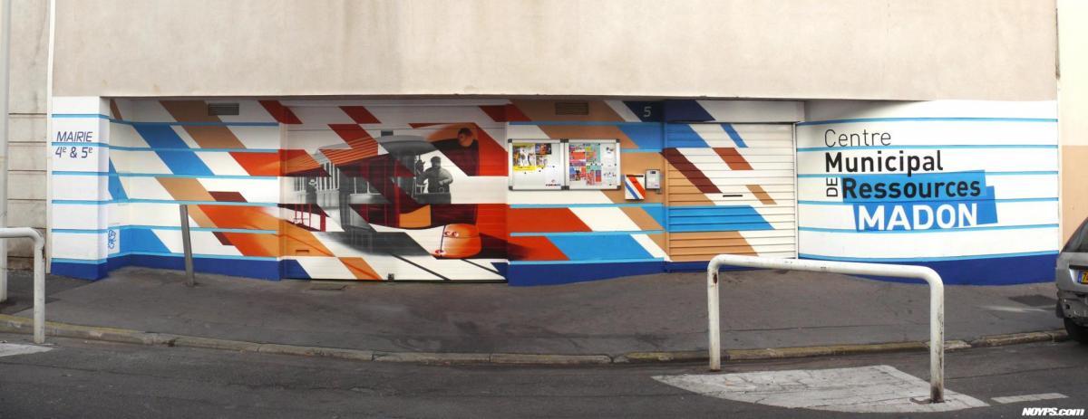Cma madon noyps graffiti street art marseille