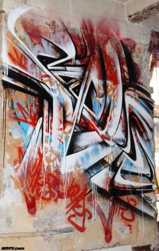 Graffiti street art noyps marseille france