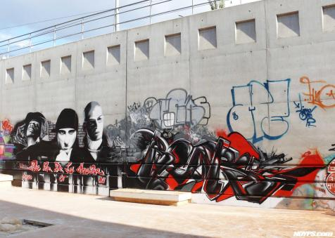 Graffiti street art noyps real vega la friche marseille france