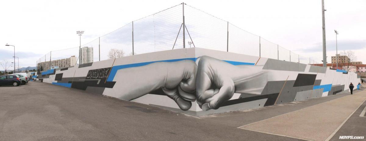 Graffiti street art marseille noyps stade malpasse 3