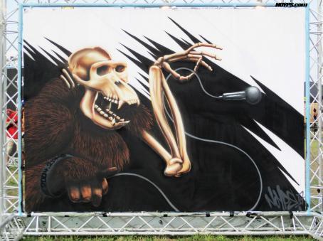 Le mur rock en seine 2017 paris noyps street art 3