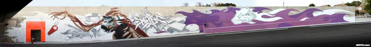 graffiti street art marseille Noyps rocade l2 france